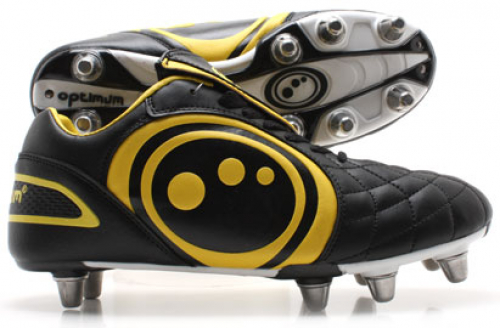 Optimum Eclipse Rugby Boots Black/Yellow