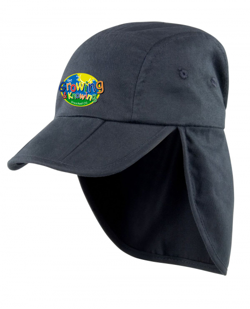 Growing & Knowing Sun Hat Black