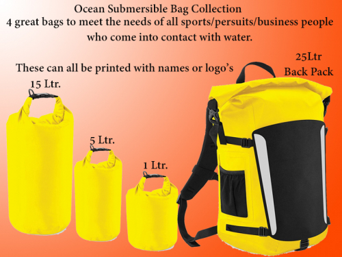 New for 2017 Ocean Submersible Bag Collection