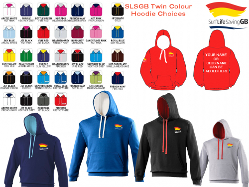 SLSGB Twin Colour Hoodie Adults