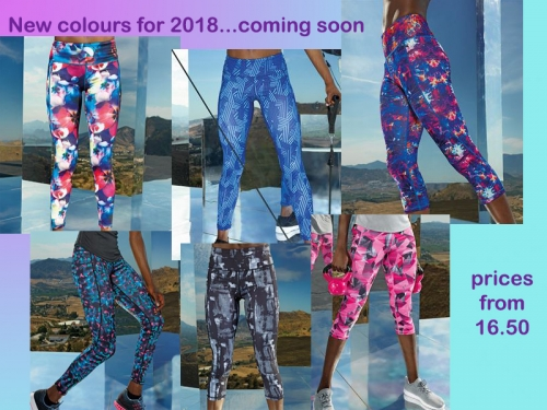 New Legging Colours for 2018....coming soon