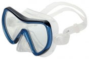 Divetech PRO Coral Silicone Mask - Met Blue & Black