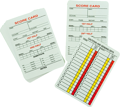 Referee Cards (Set of 20)