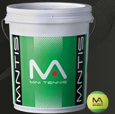Mini Tennis Ball Bucket - Green