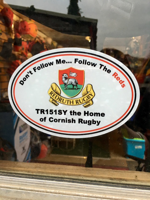 Redruth RFC Car/Window Sticker