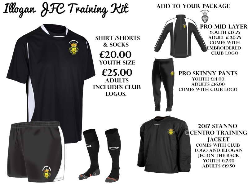 Illogan JFC Training Kit Adult Sizes