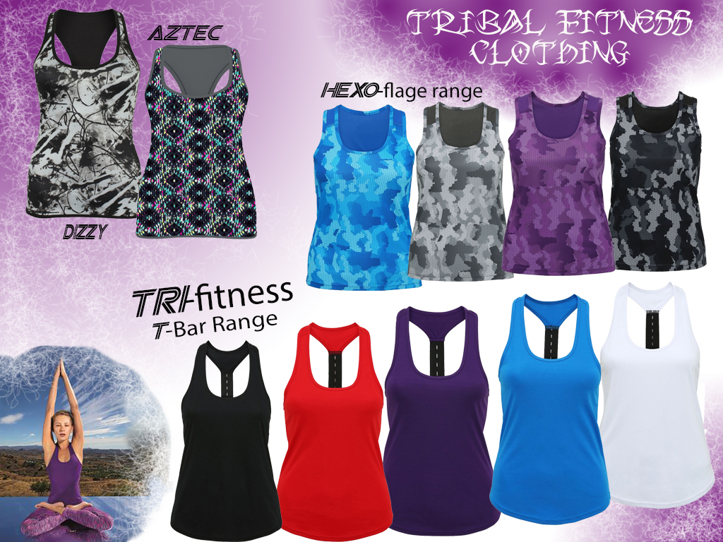 2017 Tribal Fitness Tops for ladies
