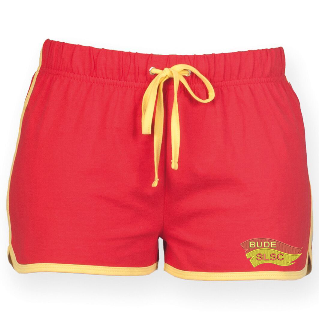 Bude SLSC Ladies Retro Beach Shorts