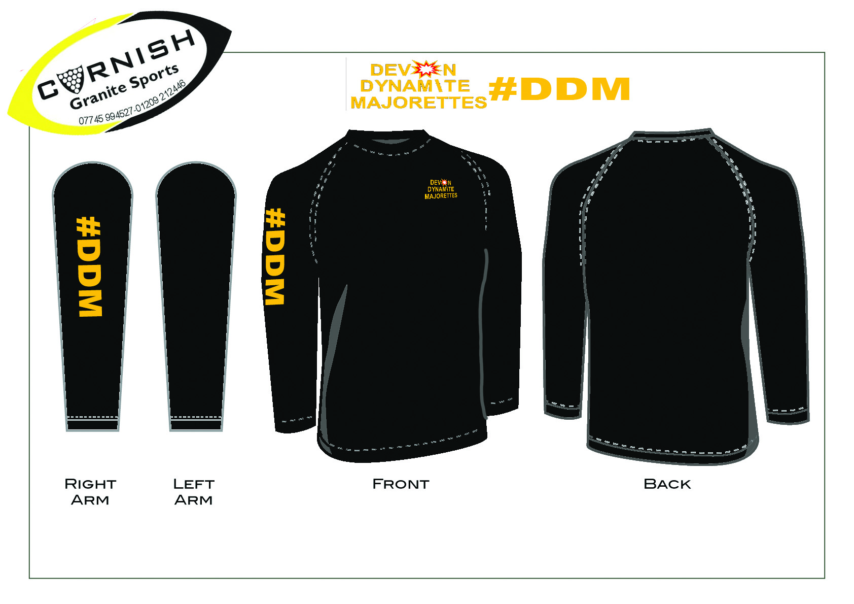 #DDM Long sleeve tee